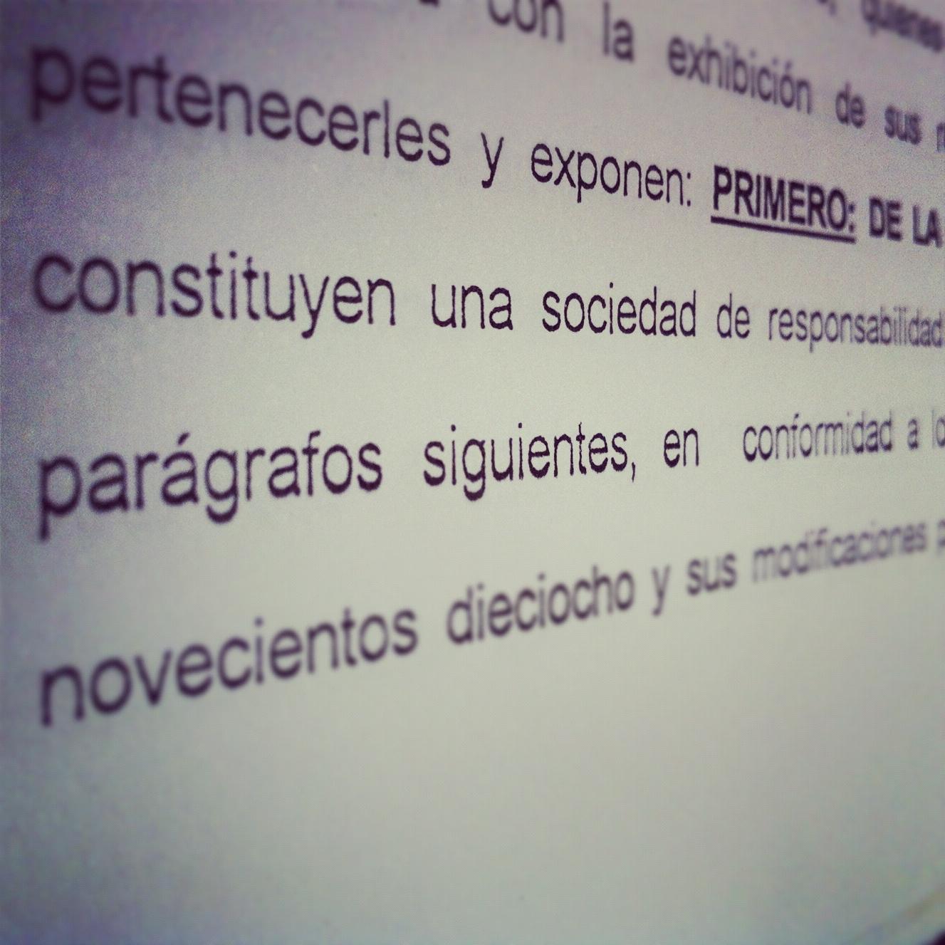 Constitución de sociedades